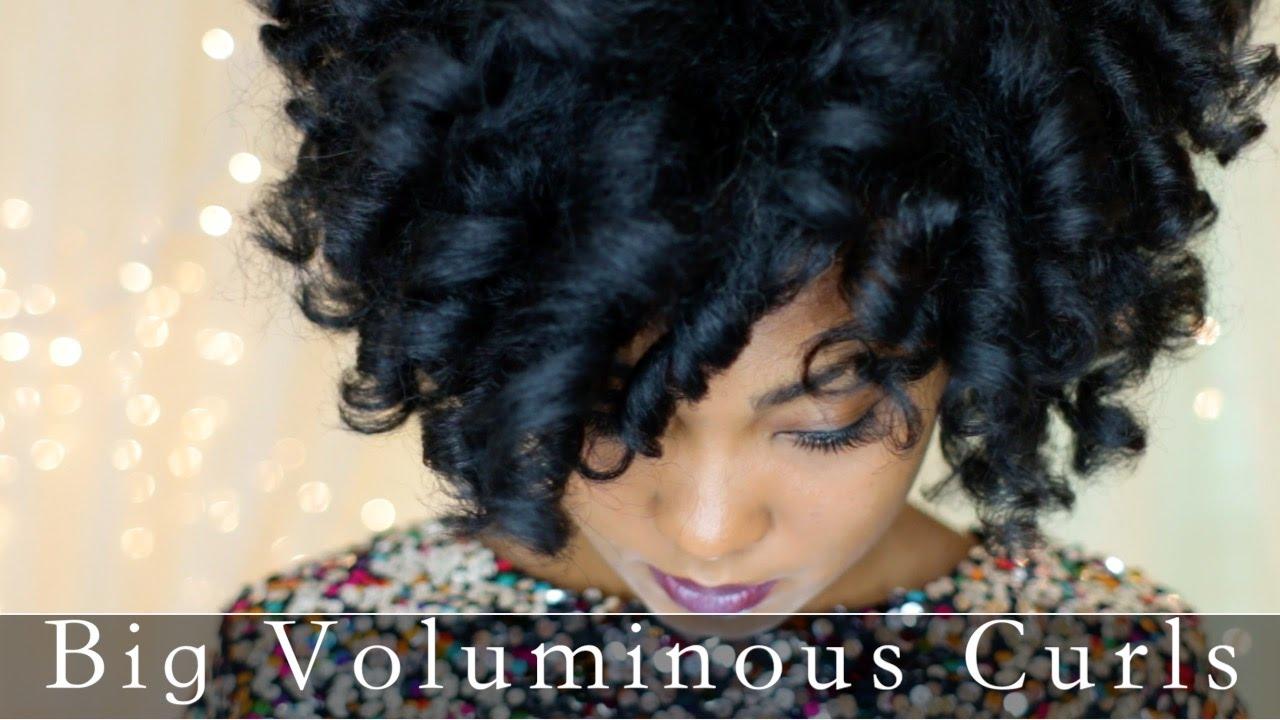 Big Voluminous Curls On Natural Hair Youtube