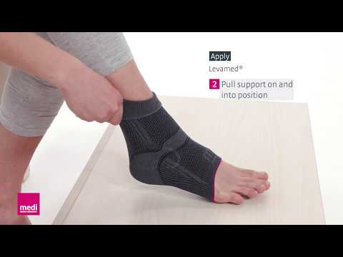 Levamed® – How To Apply The Ankle Support Sleeve | Medi USA