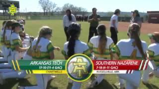 Tech Softball vs. Southern Nazarene Highlights - Game 2 - 3/18/17