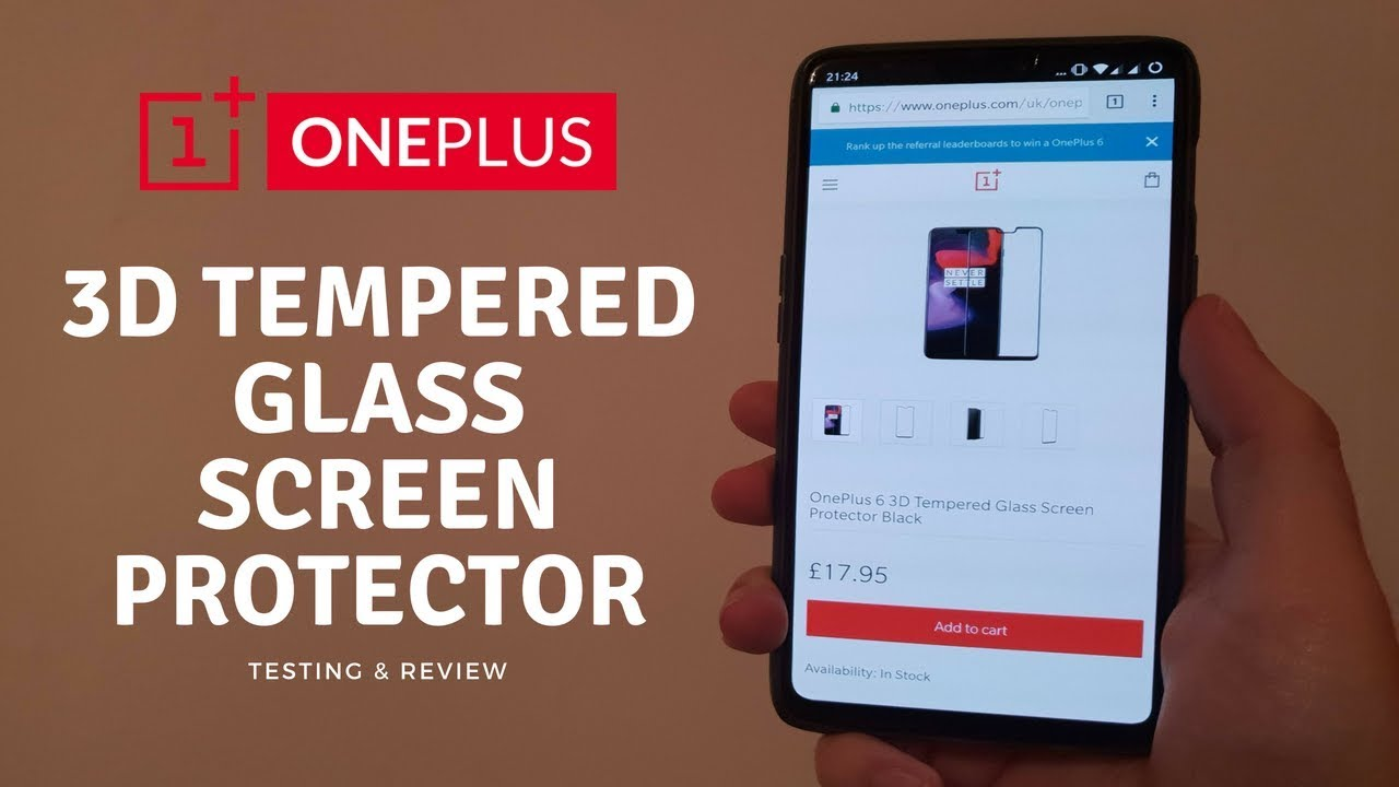 buy online a19d1 0042d OnePlus 6 Official 3D Tempered Glass Screen Protector Application + ...