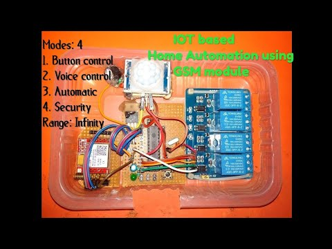 How to make IOT Based Home Automation system using GSM Module