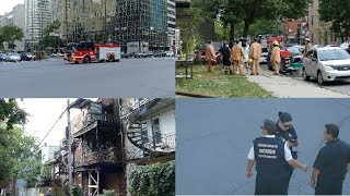 POMPIERS MONTRÉAL / FIREFIGHTERS / EN ROUTE +DAY AFTER,DE ROUVILLE+CARTIER + SPECIAL,PARADE PREP/12X
