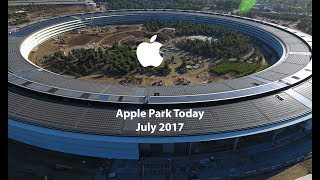 APPLE CAMPUS 2 / APPLE PARK July 2017 4K Drone The Dream Of Steve Jobs
