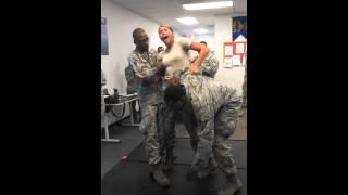 USAF Girl gets tazed **ORIGINAL * *