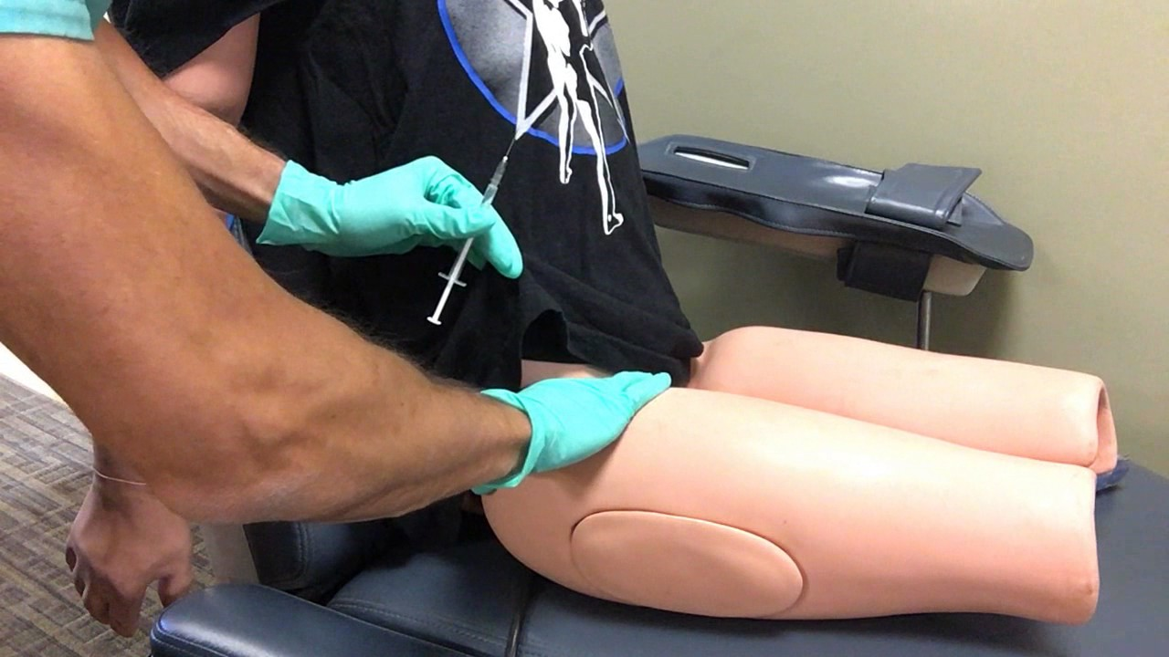 IM injection lateral thigh