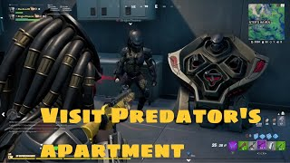 Visit Predator's apartment, Spend 30 seconds with 10m of a player, Complete a bounty  (as Predator)
