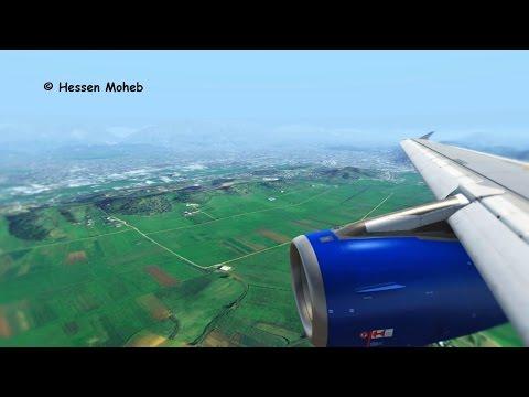 Tirana, Albania Landing ( British Airbus A320 Cockpit + Wing ) ( Flight Simulator X / FSX )