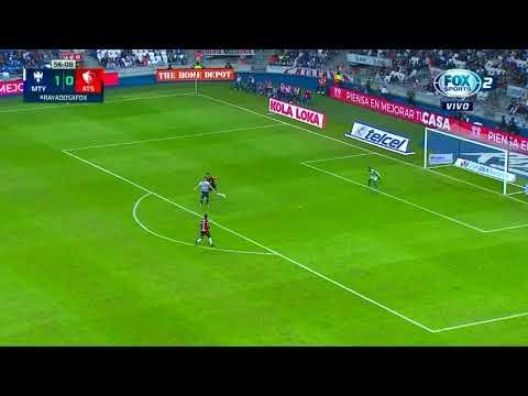 Gol de Rogelio Funes Mori | Monterrey 2 - 0 Atlas | Apertura 2018 - Jornada 17 | LIGA Bancomer MX