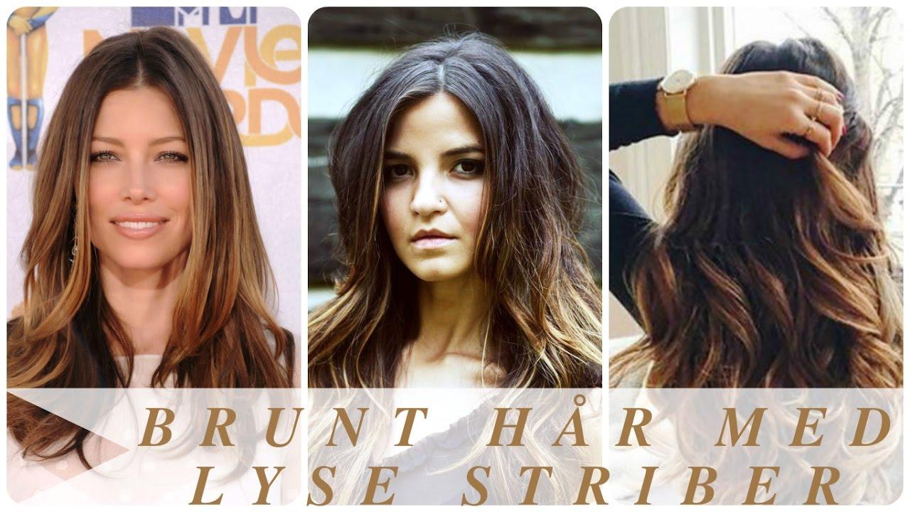 brun hårfarve med striber