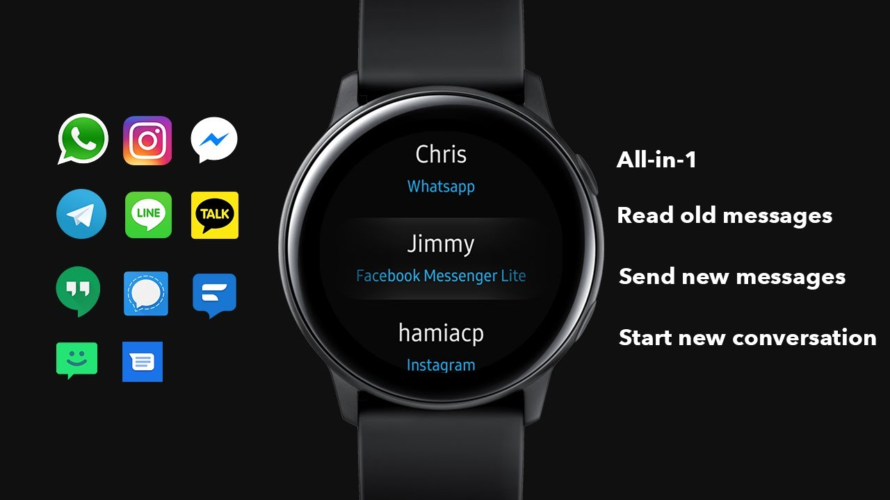 Galaxy Watch Active S3 View Old Messages N Unlimited Replies Whatsapp Instagram Fb Messenger Etc Youtube