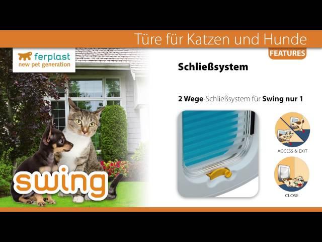 Ferplast SWING - Türe für Katzen und Hunde