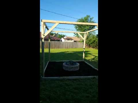 Fire pit swing backyard project