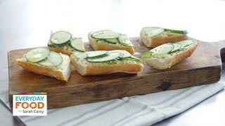 Cucumber-feta Toast Recipe - Everyday Food With Sarah Carey