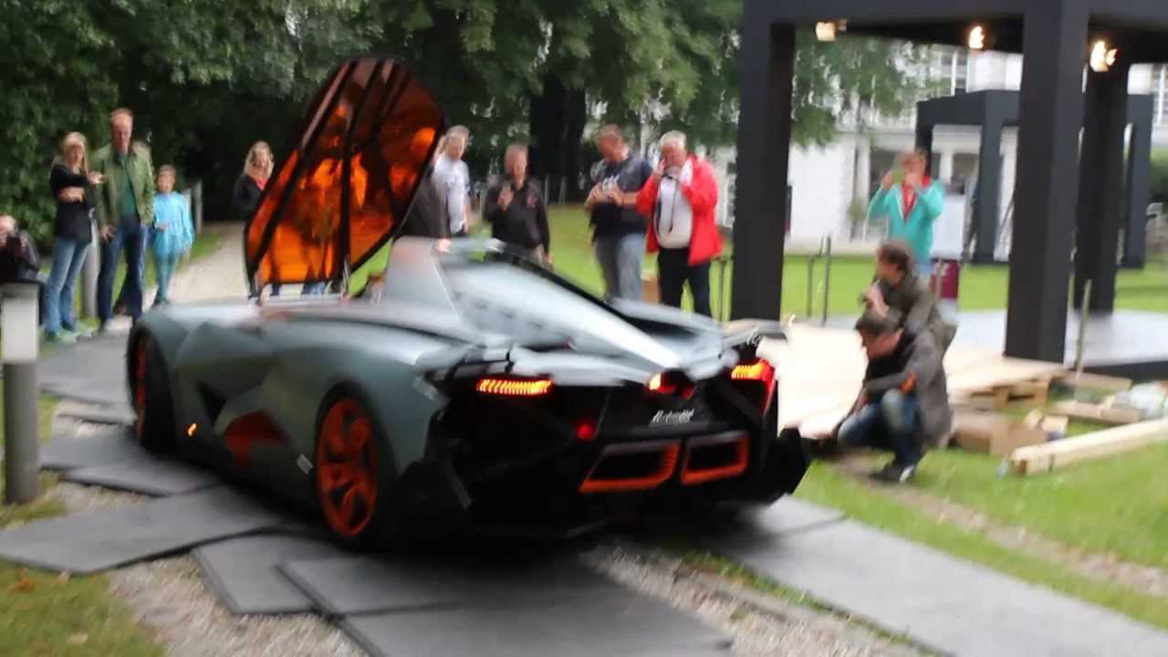 Lamborghini Egoista Running Revving Youtube