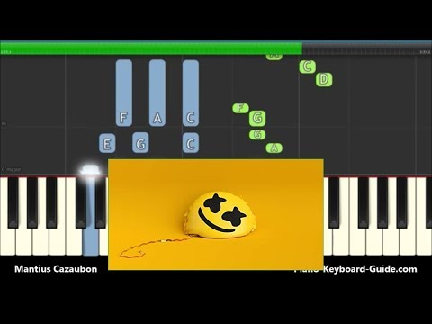 Marshmello Ft. Bastille Happier Piano Tutorial