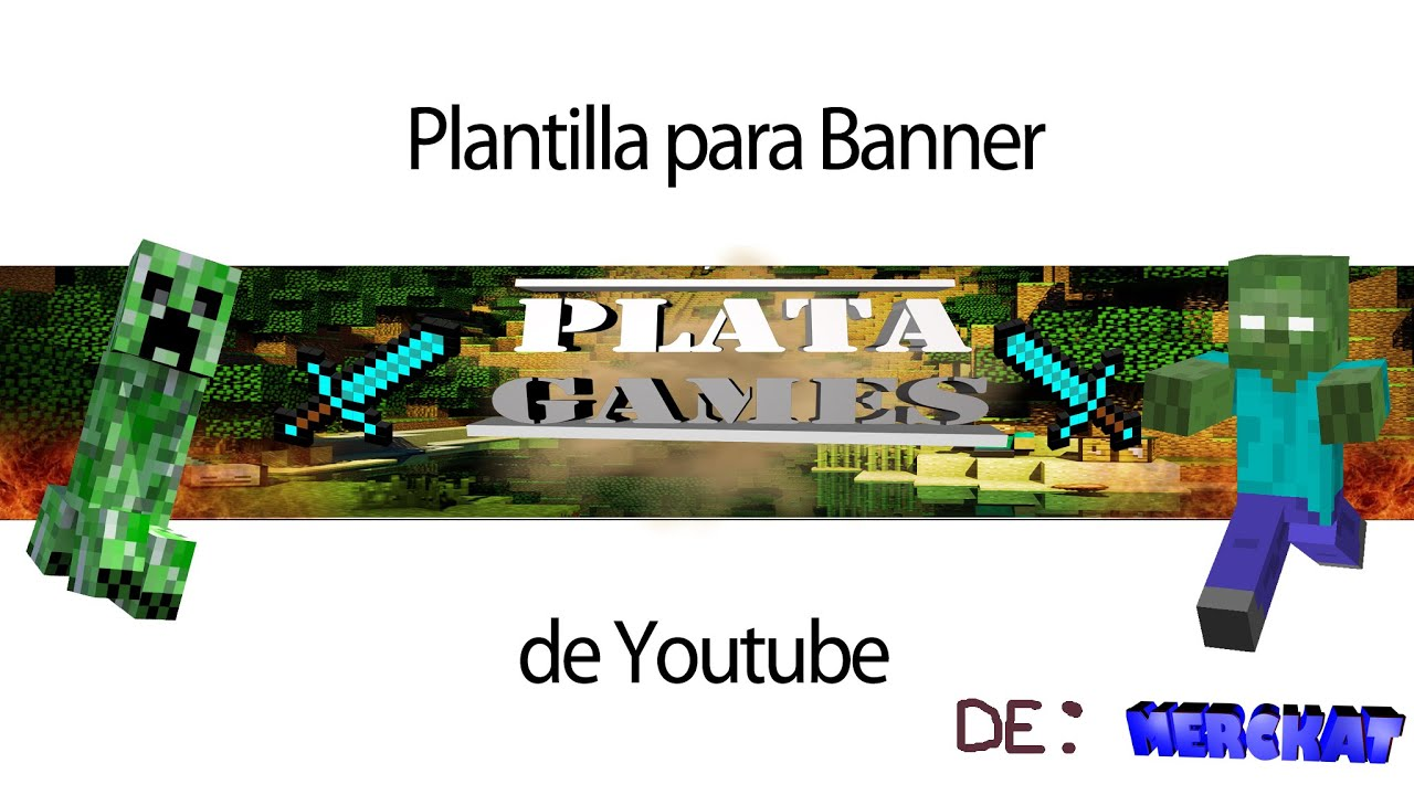 Banner de Minecraft para: PLATA JUEGOS - Speed Art - YouTube