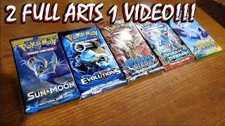 DOUBLE FULL ARTS HYPE!! Troll & Toad: 5 Random Poke'mon Booster Packs!!
