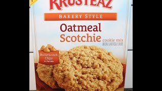 Making Krusteaz Oatmeal Scotchie Cookie Mix