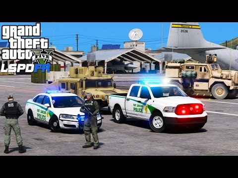 LSPDFR Police Mod 446 | Fort Zancudo Air Base Military Police Patrol