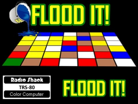 Flood It! A new game cartridge for the Color Computer by Evan Wright!