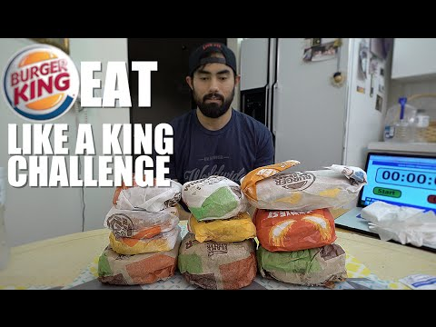 BURGER KING EAT LIKE A KING CHALLENGE | 5,533 CALORIES