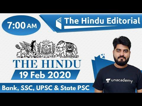 7:00 AM - The Hindu Editorial Analysis by Vishal Sir | 19 February 2020 | The Hindu Analysis