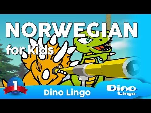 Norwegian for kids DVD set - Children learning Norwegian, Norsk, Norway