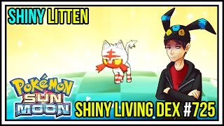 epic reaction shiny litten in 78 eggs   shiny living dex 725   pokemon sun and moon