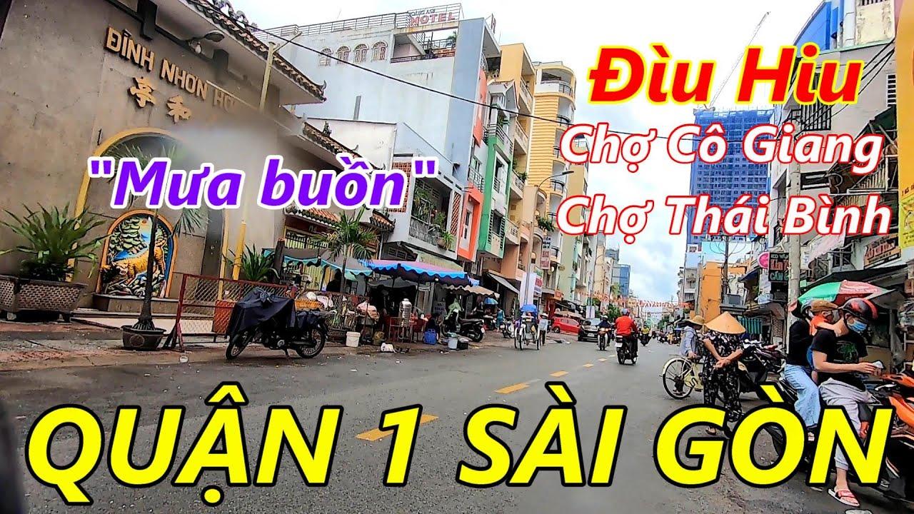 """""""ĐÌU HIU"""" Chợ Cô Giang đến Chợ Thái Bình & Liên tục nhiều Lệnh CÁCH LY (Sài Gòn MƯA ngày 3.8.20)"""