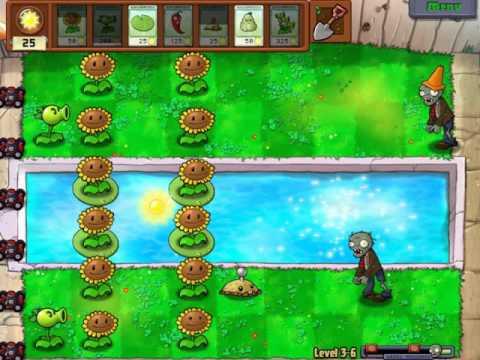 Gameplay-PlantsVsZombies Level 3-6