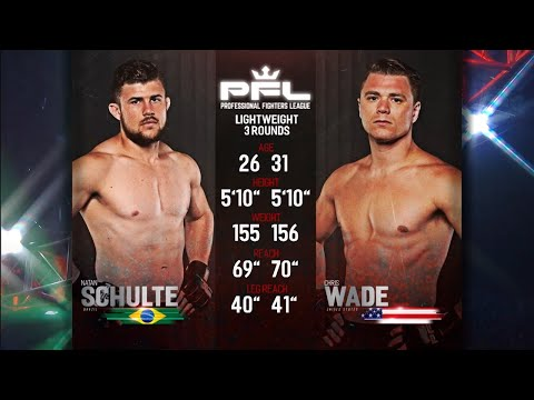 Natan Schulte vs Chris Wade 2 Full Fight | PFL 9 2018 Playoffs