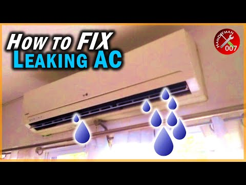 Fix Aircon Unit Leaking Water Inside The House | Air Conditioner Maintenance Tips