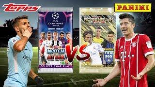 MEGA BATTLE | Topps vs Panini | MATCH ATTAX UCL vs AXL FIFA 365!