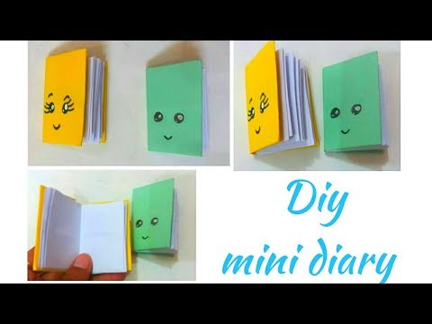 Diy mini notebook one sheet of paper | Diy mini diary | Diy mini notebook making