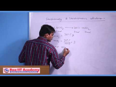 Stoichiometry & Stoichiometric Calculations - IIT JEE Main and Advanced Chemistry Video Lecture