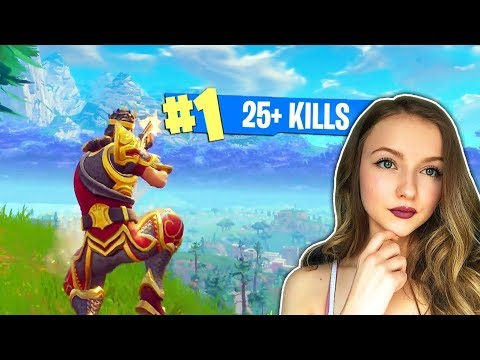 SHE WON THE GAME FOR US!! (Fortnite: Battle Royale) - 동영상