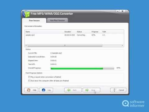 Free Mp3 Wma Ogg Converter quick demo