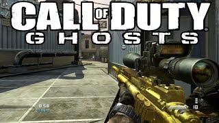 "Cod GHOSTS Multiplayer Live - ""Golden USR Sniper Gameplay"" - (Ghosts Gold Sniper)"