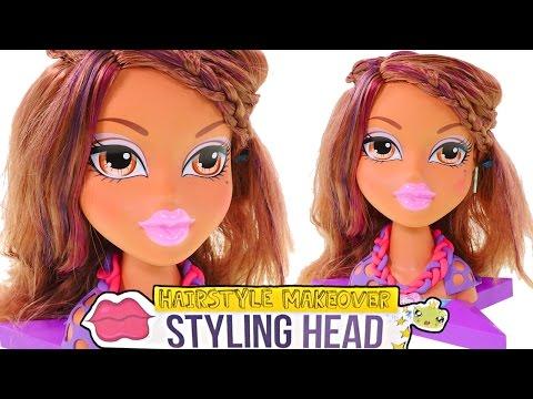 Yasmin Cabeza de Estilo Bratz + Collar Hello Kitty Play Doh Peina y Pinta el Cabello de Yasmin - 동영상