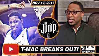 Tracy McGrady Tells About His First Breakout Game | The Jump | Nov 17, 2017