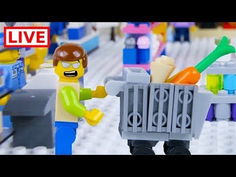 LEGO City Shopping Fail LIVE 🔴 STOP MOTION LEGO City Shopping Fail | LEGO City | By Billy Bricks