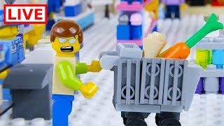 LEGO City Shopping Fail LIVE 🔴 STOP MOTION LEGO City Shopping Fail | LEGO City | By Billy Bricks