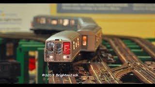 MTH MTA NYC Transit 4-Car R-40 Slant F Train Subway Set