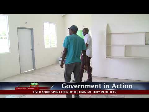 GOVERNMENT IN ACTION - Delices Toloma Factory