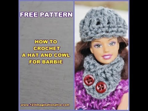 How To Crochet A Barbie Doll Hat and Cowl - YouTube 0ec25e60b15