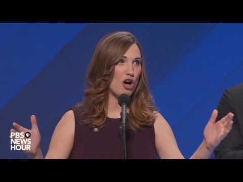 Sarah McBride, first transgender speaker at major political convention, addresses DNC 2016
