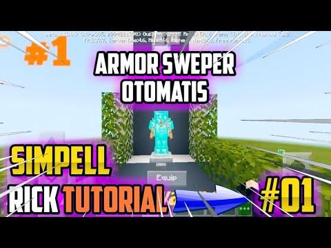 MINECRAFT PE | Tutorial Membuat Armor Swapper | simpel....