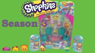 Shopkins season 3 12 pack opening +  blind baskets Mystery Surprise Toy Unboxing Shopping Blind Bags