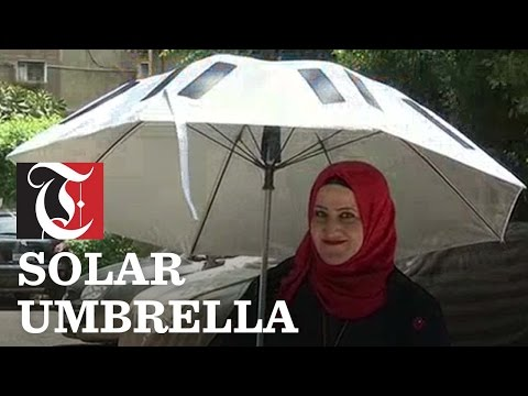Smart Solar Umbrella for Hajj Pilgrims