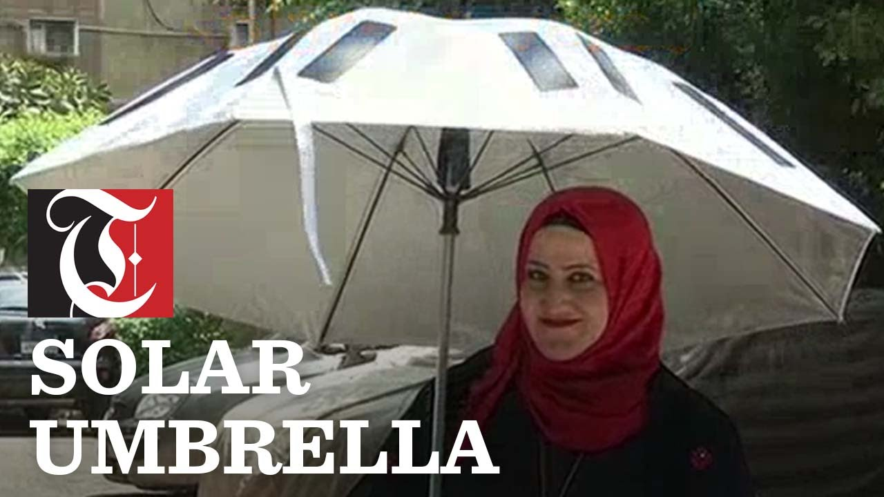 Smart Solar Umbrella For Hajj Pilgrims Youtube